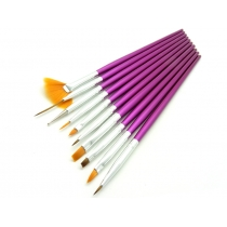 Nail Brush Set - 10 Pcs