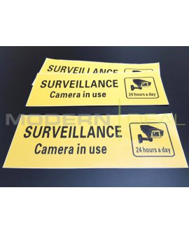 SURVEILLANCE STICKER 3 Pack
