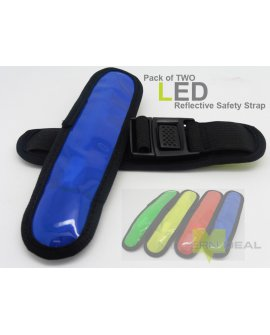 LED Safety Armband - Blue x 2
