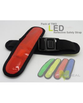 LED Safety Armband - Red x 2