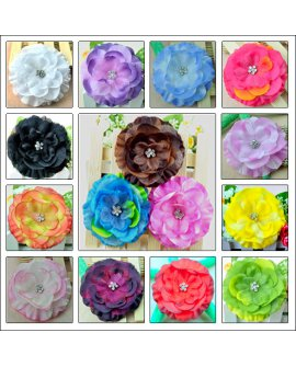 Flower Hair Clips - 15 Pieces