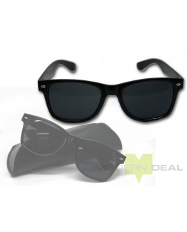 Sunglasses - Black with Grey