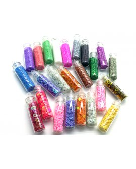 Nail Art Decorations - 24 Bottles