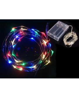 Wire String Lights (5m / 50 LED) - Colour