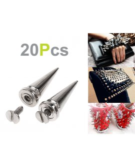 DIY Silver Spikes - 26mm 20pcs