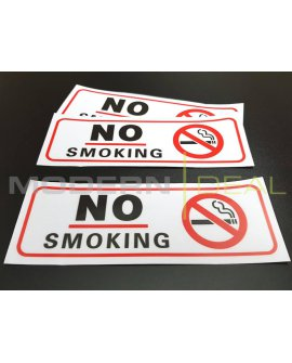 NO SMOKING STICKER 3 Pack