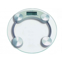 Glass Top Bathroom Scale - Round