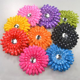 Flower Hair Clips - 9 Pieces