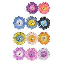 Flower Hair Clips - 12 Pieces