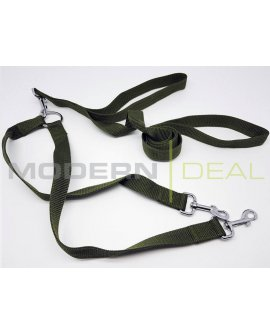 Dual Dog Leash GREEN