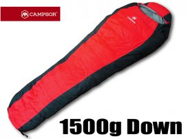 Duck Down Sleeping Bag 1500g - Red