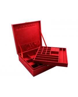 Jewellery Box -  RED Suede