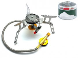 "Camping Stove - 5"" Self-Standing with Flexi-Hose"