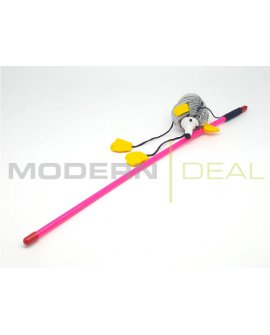 Teaser Wand Cat Toy - Yellow