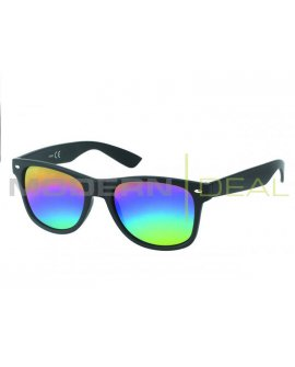 Sunglasses - Black with rainbow