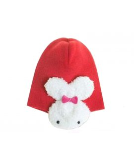 Unisex Beanie - Red w/Ear Flap