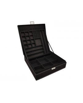 Jewellery Box -  Black Suede