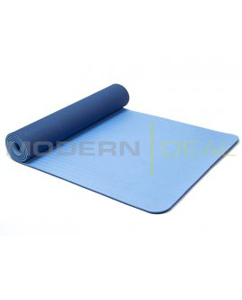 Yoga Mat - 6mm Non Slip TPE BLUE