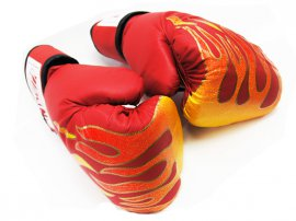 Boxing Gloves - RED FLAME