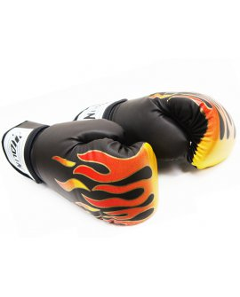 Boxing Gloves 8oz - BLACK FLAME