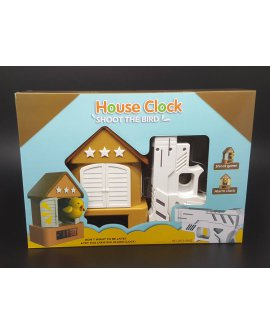 Shoot The Bird Alarm Clock BROWN ROOF