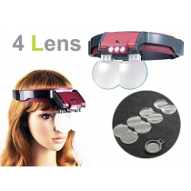 Magnifying Glass Headband - 4 Lens