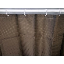 Shower Curtain w/ Rings 2.4x1.8 - BROWN