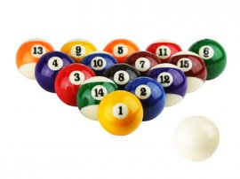 "Pool Ball Set 2 1/16"" Size"