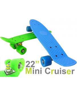 Mini Retro Skateboard - BLUE