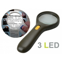 3 LED Magnifier Netted Handle Double Magnification