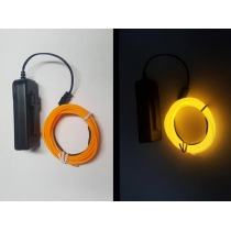 YELLOW Flexible 3m Neon Glowing Cycle Safety Light