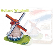 3D Foam Puzzle - Holland Windmill