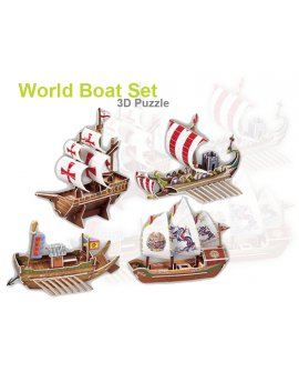 3D Foam Puzzle - World Boat Set