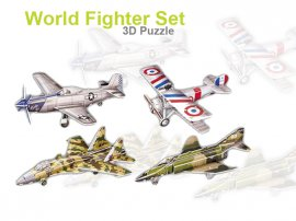 3D Foam Puzzle - Fighter Plane Set 1
