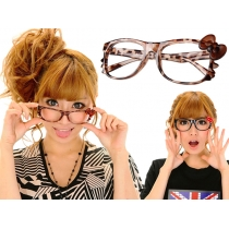 Kitty Bow Whiskers Glasses - Leopard