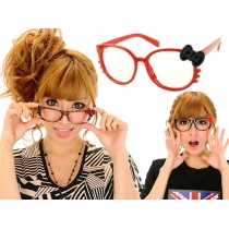 Kitty Bow Whiskers Glasses - Red