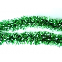 Tinsels - 10m FROSTED Green & White tip