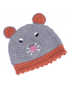 Cartoon Animal Mouse Wool Knit Beanie