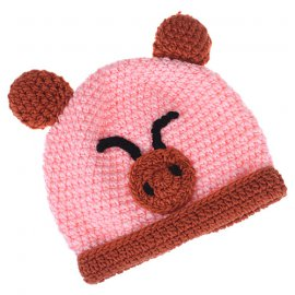 Cartoon Animal Piggy Wool Knit Beanie
