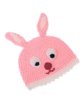 Cartoon Animal Bunny Wool Knit Beanie