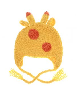 Cartoon Animal Giraffe Wool Knit Beanie