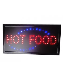"LED Sign ""HOT FOOD"""