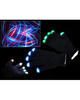 Multi Colour LED Flashing Gloves