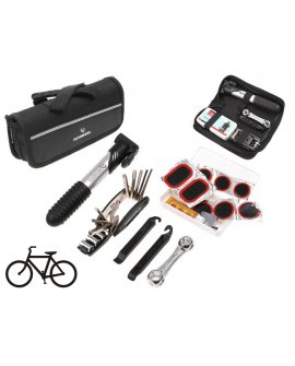 Bicycle Bike Tyre Repair Kit with Multitool & Pump