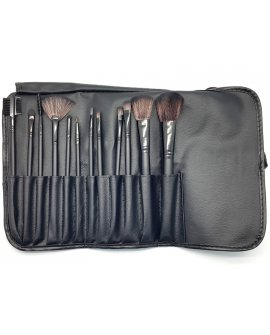 12 Pieces Make Up Brush Set with Travel Pouch