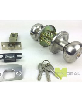 Door Knob S/S with Keys T3609SS
