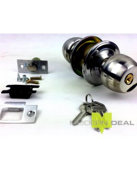 Door Knob S/S with Keys T5831SS2