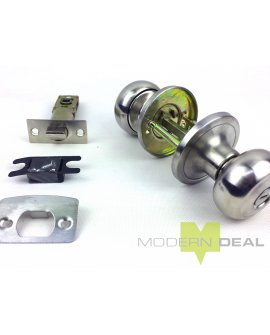 Lockable Door Knob - T3609SS NO KEYS