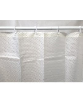 Shower Curtain w/ Rings 2.4x1.8- OFF WHITE / CREAM