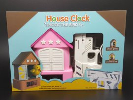 Shoot The Bird Alarm Clock PINK ROOF